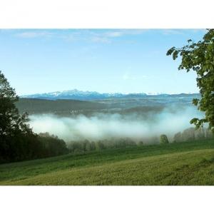 Landschaft mit Säntis