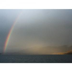 Stimmung mit Regenbogen