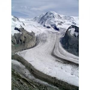 Gornergletscher mit Dufourspitze VS