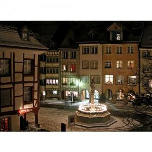 Wil SG - Marktplatz mit Pankraziusbrunnen