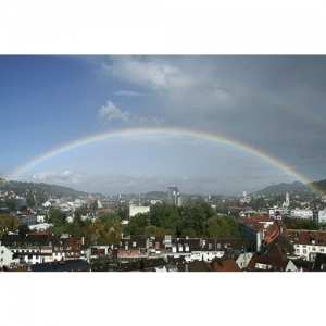 St. Gallen - Regenbogen über St.Gallen-Ost