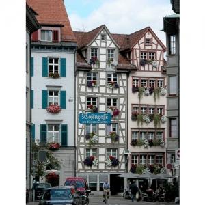 St. Gallen - Rosengasse, Blick zur Schmiedgasse