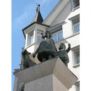 St. Gallen - Brunnenfiguren Spisergasse
