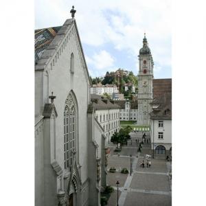 St. Gallen - Marktgasse mit Blick zum Dom