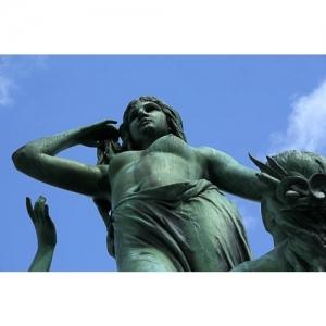 St. Gallen - Figur vom Broderbrunnen