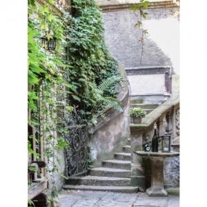 Treppe mit Stilleben