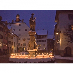 Wil SG - Pankraziusbrunnen mit Hof