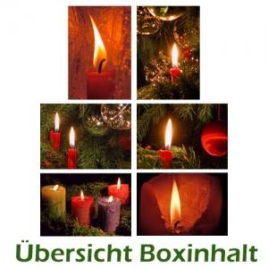 Sechser-Box: Kerzen