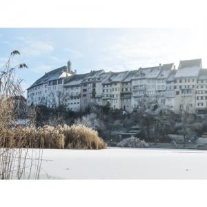 Wil SG: Blick vom Weiher zur Altstadt