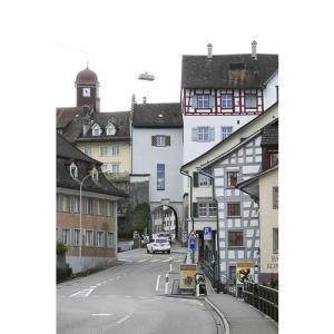 Wil SG - Vorstadt mit Blick zur Altstadt