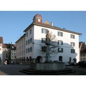 Wil SG - Hofplatz mit Pankraziusbrunnen