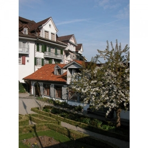 Bischofszell: Museumsgarten mit Schnyderbudig