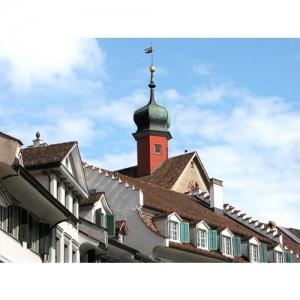 Bischofszell: Bogenturm und Marktgasse