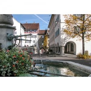 L 0689 Wil SG: Hofplatz mit Pankraziusbrunnen  60x40
